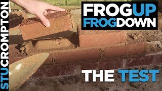 Bricklaying - should you lay frog up or frog down - the test