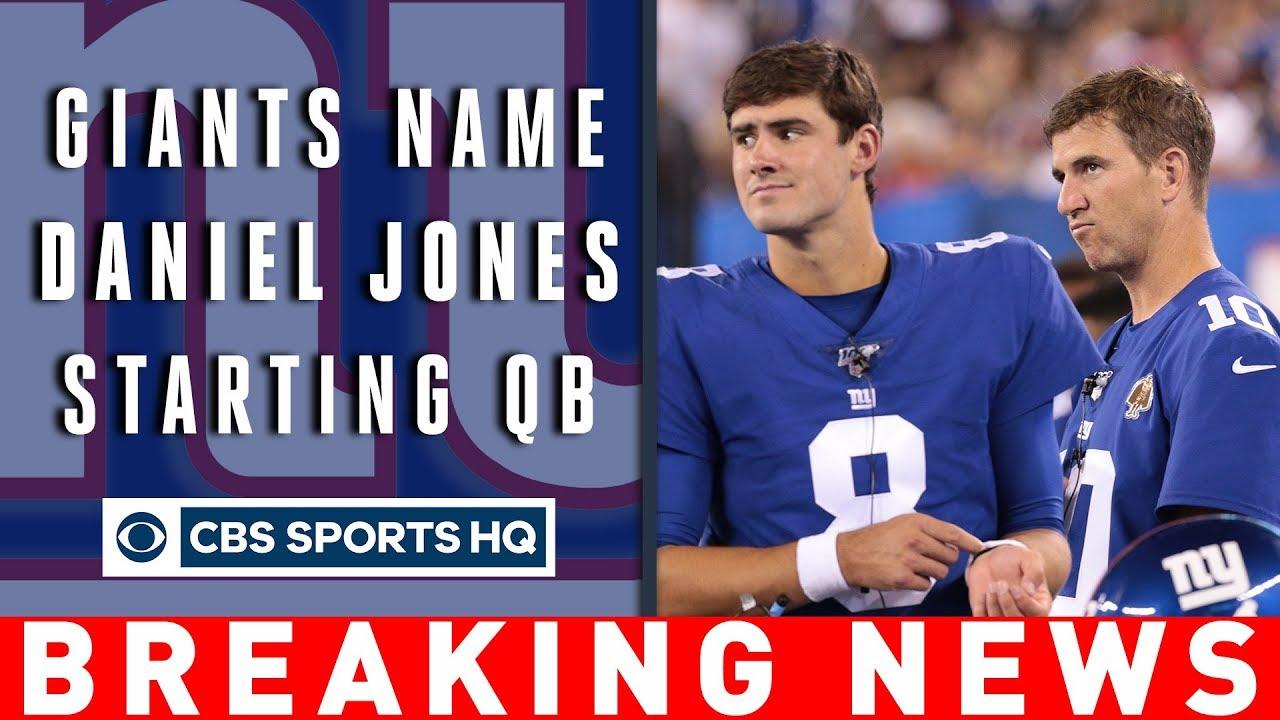 New York Giants name Daniel Jones starting quarterback, ending Eli Manning era