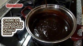 CREME DE CHOCOLATE para rechear e cobrir bolos