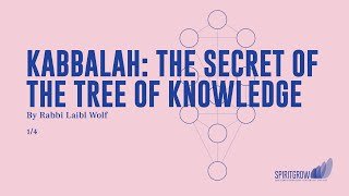 Kabbalah: The Secret of the Tree of Knowledge - Rabbi Laibl Wolf, Spiritgrow - Josef Kryss Center