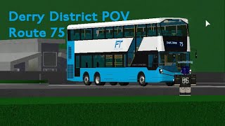 [4x] Roblox New Derry District Route 75 Front View Timelapse