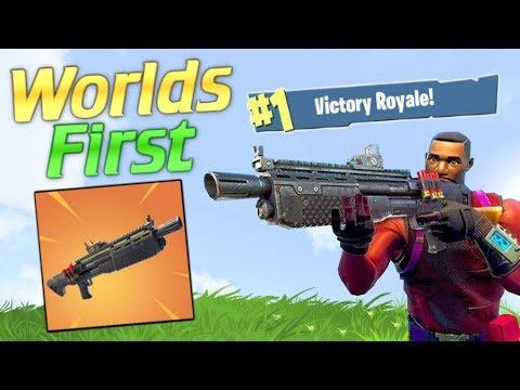 WORLDS FIRST HEAVY SHOTGUN ONLY WIN.. FORTNITE!