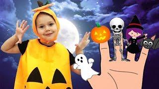 Halloween Finger Family Song | Pumpkin Finger Family Nursery Rhymes