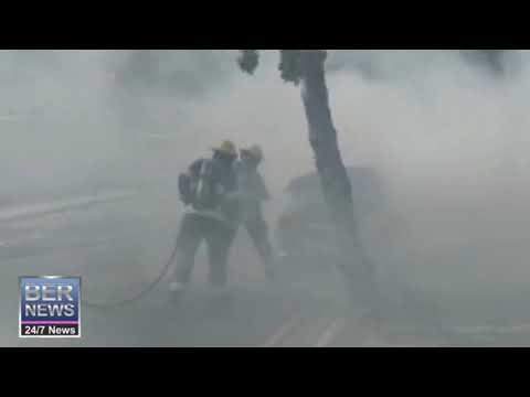 Car Fire Extinguished In Hamilton, July 11 2019