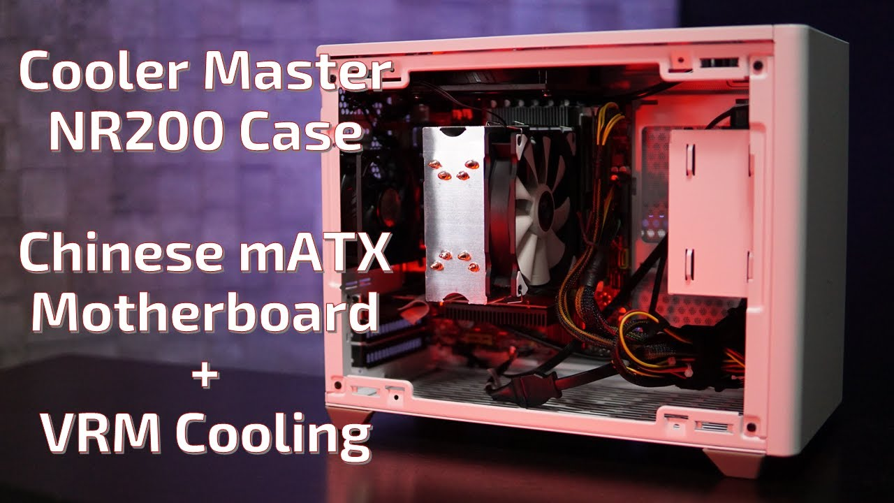 image from Cooler Master NR200 with mATX Chinese X79 Motherboard