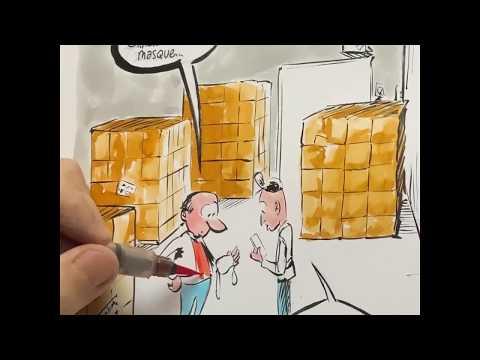 Caricature d'actualité : les masques Chinois. (tuto)