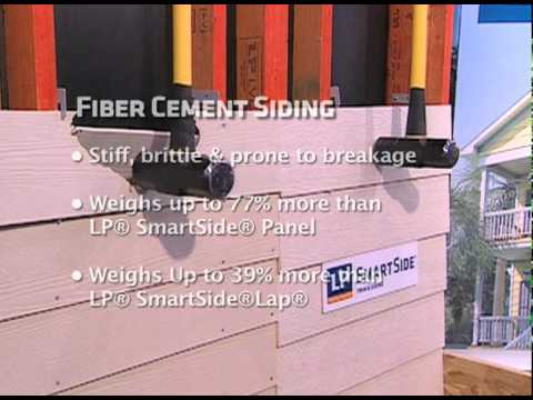 Lp Smartside Vs Fiber Cement Board Youtube