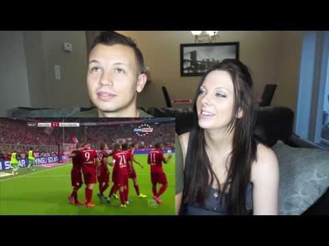 Robert Lewandowski scores 5 goals in 9 minutes | Bayern Munich vs. Wolfsburg | Couple Reacts!!!