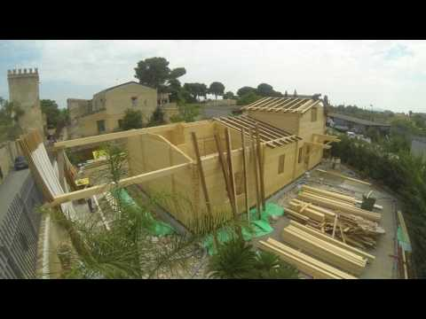 Montaggio   Bungalow in legno blockhouse 100mm   Tecnowood