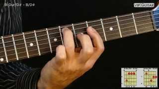 gitarrenakkorde: b-dur/d# - b/d# chord