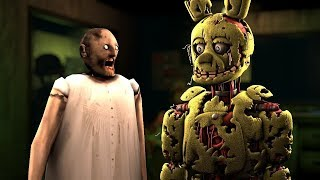How to make GRANNY NOT SCARY Feat Springtrap FNAF3 Animation