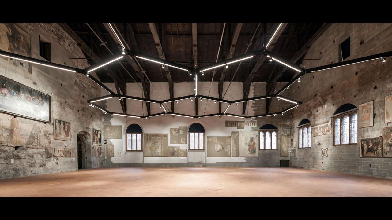Architetti A Bergamo sala delle capriate at palazzo della ragione / cn10 architetti (4k)