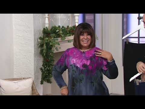 Bob Mackie's Stretch Pull-On Ankle Pants with Curved Hem on QVC