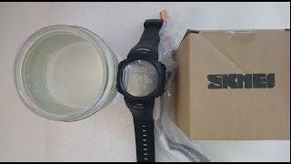 часы Skmei 1231 с компасом, тест на водостойкость, настройка, инструкция на русском, обзор