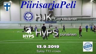 Piirisarja T13 HJK City keltainen vs HyPS T13 punainen 13.9.2019