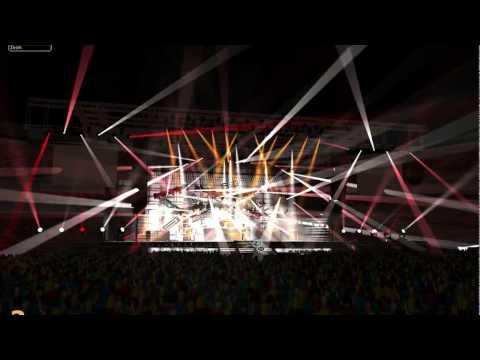 Linkin Park - Numb - grandMA2  (virtual concert)
