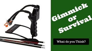 Arrow Slingshot, Marksmen Pocket Hunter, Hunting, Survival, Bugging Out