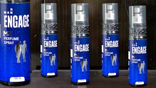 Review of Engage M2 Perfume Spray for men and its blue bottle container which is certainly beautiful