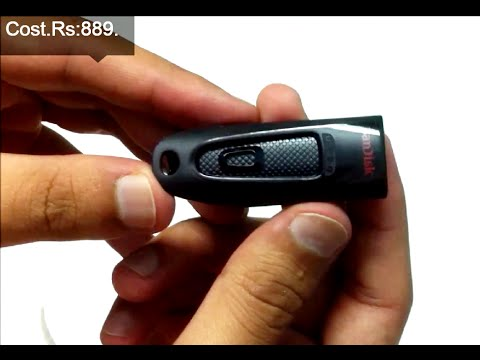 b1b5f7b3269 SanDisk Ultra 32GB USB 3.0 Pen Drive Unboxing And Review (INDIA ...