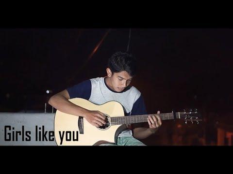 Girls Like You   Maroon 5 ft Cardi B Guitar Fingerstyle