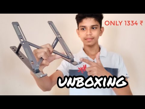 Unboxing Portronics Adjustable Laptop Stand | Best Laptop Stand
