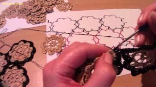 Соединение мотивов (вязание крючком). Compound motifs (crochet).