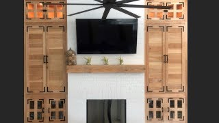 How to Build Custom Cypress DIY Built Ins for Living Room