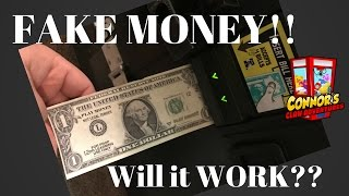 🤑Will a Claw Machine take FAKE MONEY?🤑