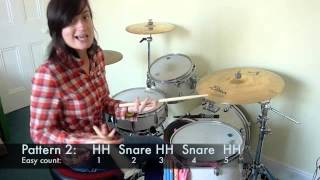 FREE Drum Lesson (beginner) -U.K Indie Rock Beat