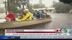 Water rescues in River Bend, North Carolina