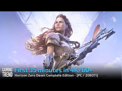 Horizon Zero Dawn Complete Edition First 35 Minutes In 4k 60fps Video Pc Ultra Settings Youtube