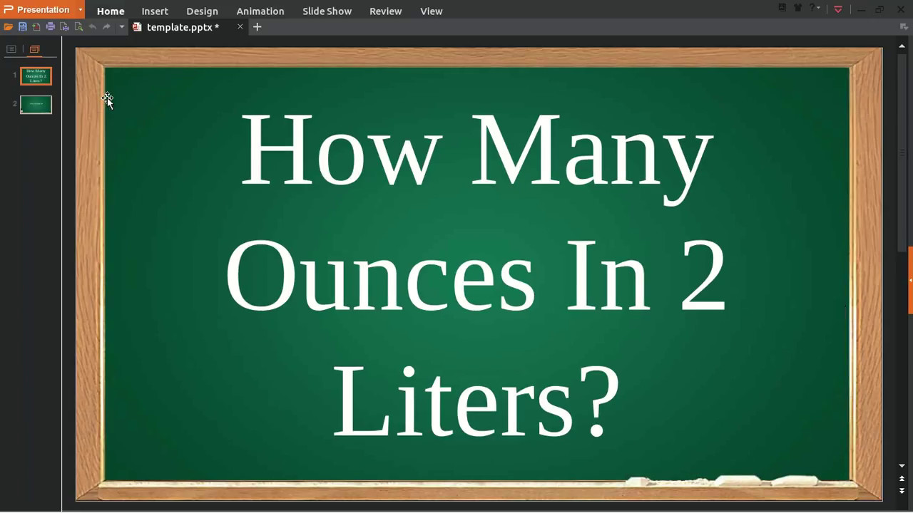 How Many Ounces In 2 Liters