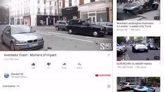 Lamborghini  crashing