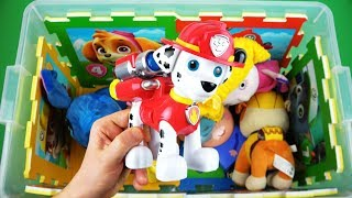 Learn characters, colors of Insects, Paw Patrol, Peppa, Ben & Holly and etc Toys in Box for Children