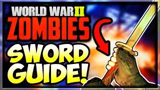"""""""The Final Reich"""" How To Get Red Talon Sword Easter Egg Guide! (WW2 Zombies How to Get Sword Guide)"""