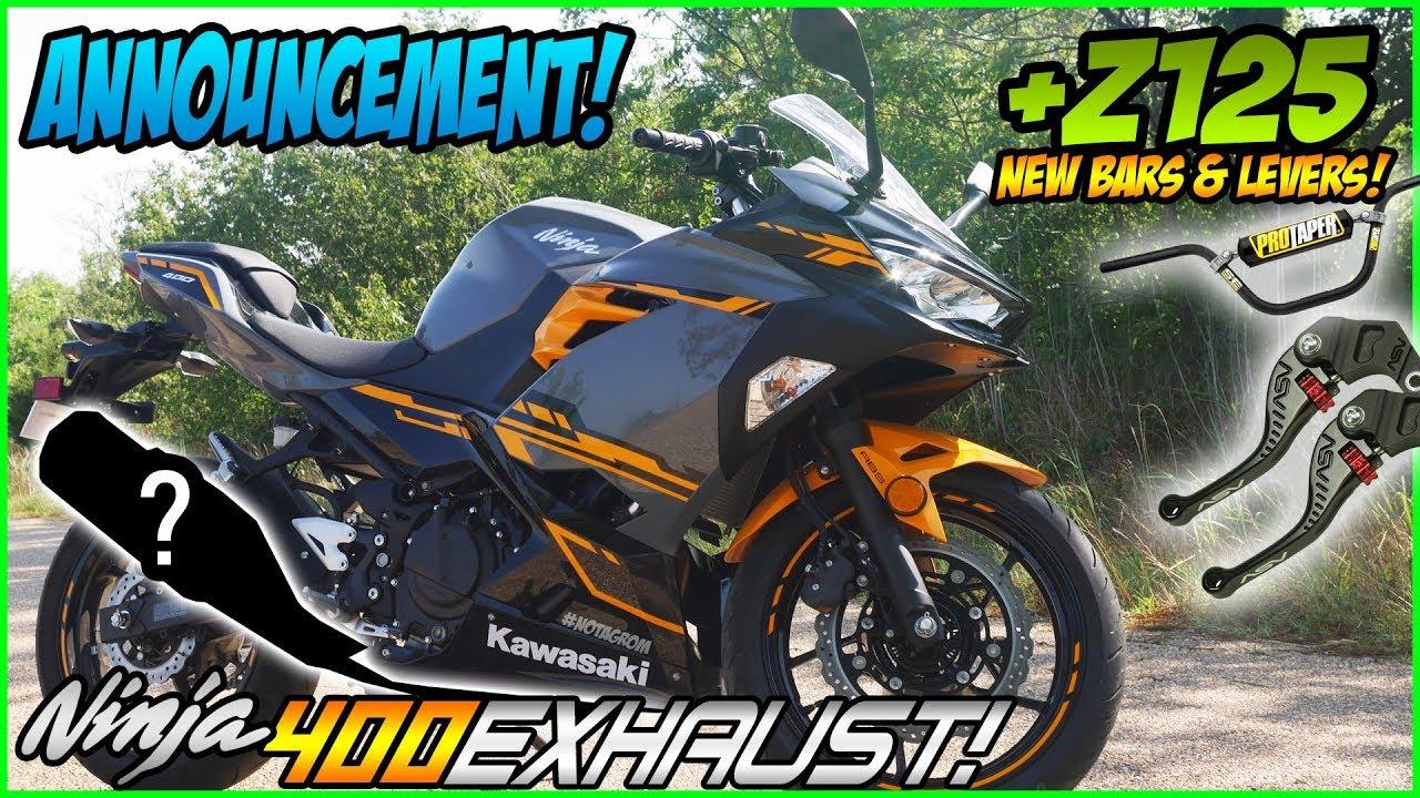 Kawasaki Ninja 400 Exhaust + Z125 Pro Taper Bars & ASV F3 Lever Announcement