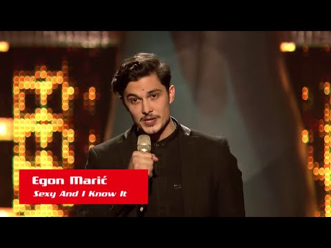 """Egon Marić: """"Sexy And I Know It"""" - The Voice of Croatia - Season1 - Blind Auditions5"""