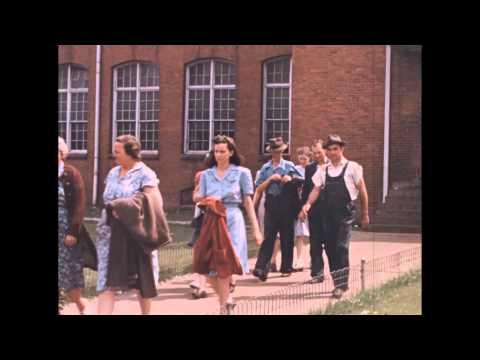 H. Lee Waters, Gastonia 1942, Movie Theater & Shift Change Scene