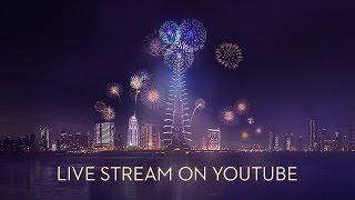 Dubai New Year's Eve Fireworks 2017 - Burj Khalifa (4K)