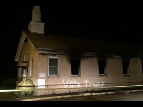 "Mississippi Black Church Burned and Vandalized with ""Vote Trump"""