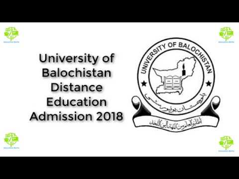 University of Balochistan Distance Education Admission