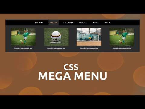 How To Create The Mega Menu Using HTML And CSS | Mega DropDown Menu