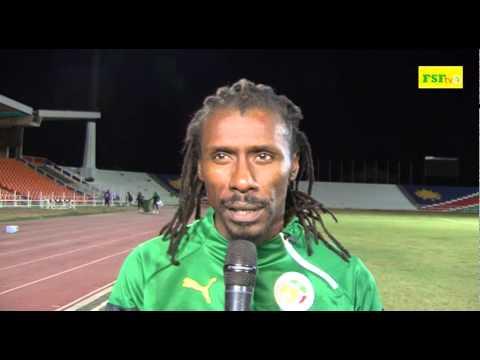 Interview Aliou Cissé, premiére séance d'entrainement à Windhoek