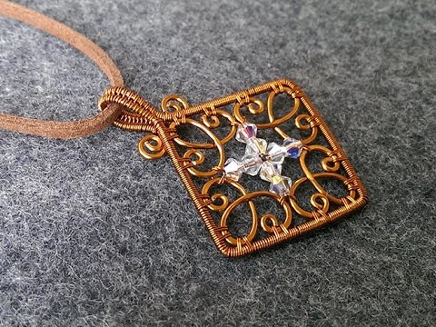 lan anh handmade square pendant how to make wire jewelry 223 5114