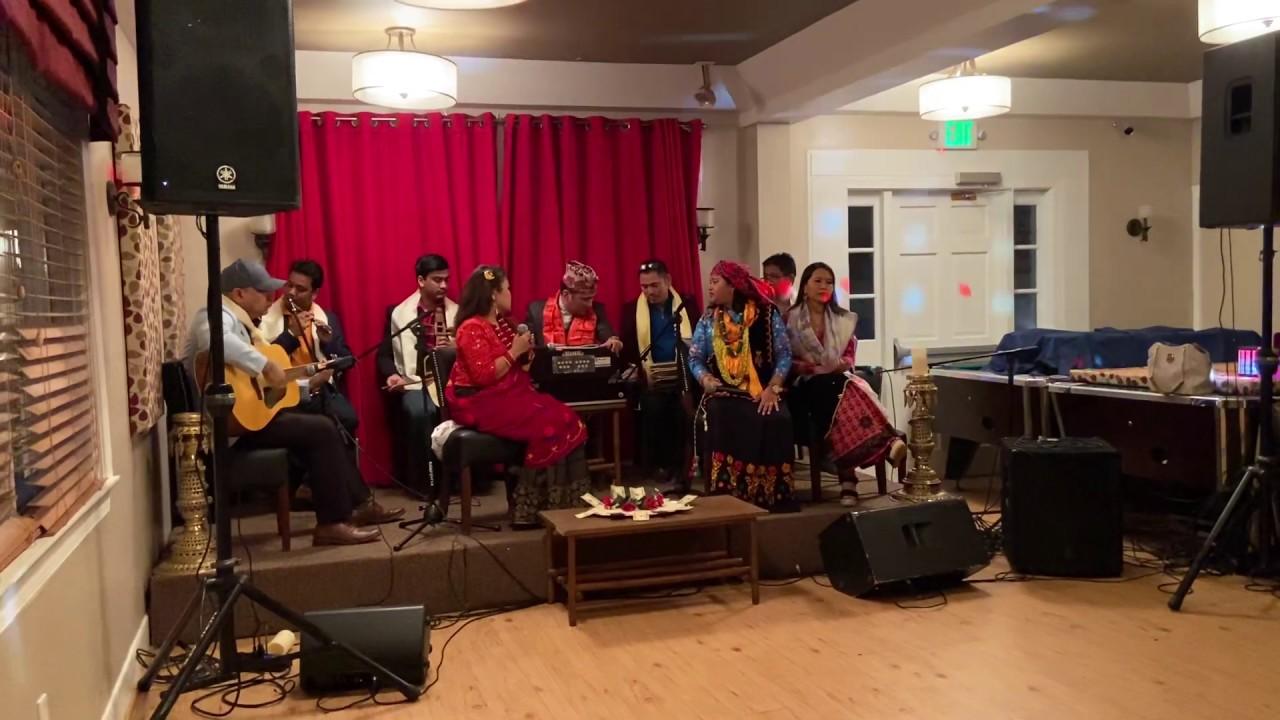 Resham Phiriri(Live in USA) by Rajan ThakurilSirjana B ThapalShayam GurunglAnjana Gurung & friends