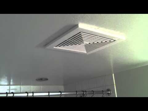 How loud is a broan bathroom fan