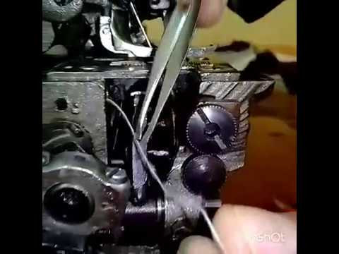 How to thread a Interlock machine