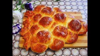 Рецепт ПИРОГА ХРУЩЁВСКОЕ тесто РЕЦЕПТ Дрожжевой пирог ГРОЗДЬ ВИНОГРАДА пироги простые рецепты