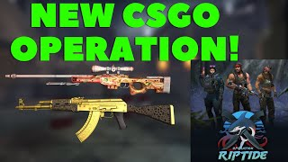 NEW CSGO OPERATION! OPERATION RIPTIDE! VIEW ALL THE SKINS