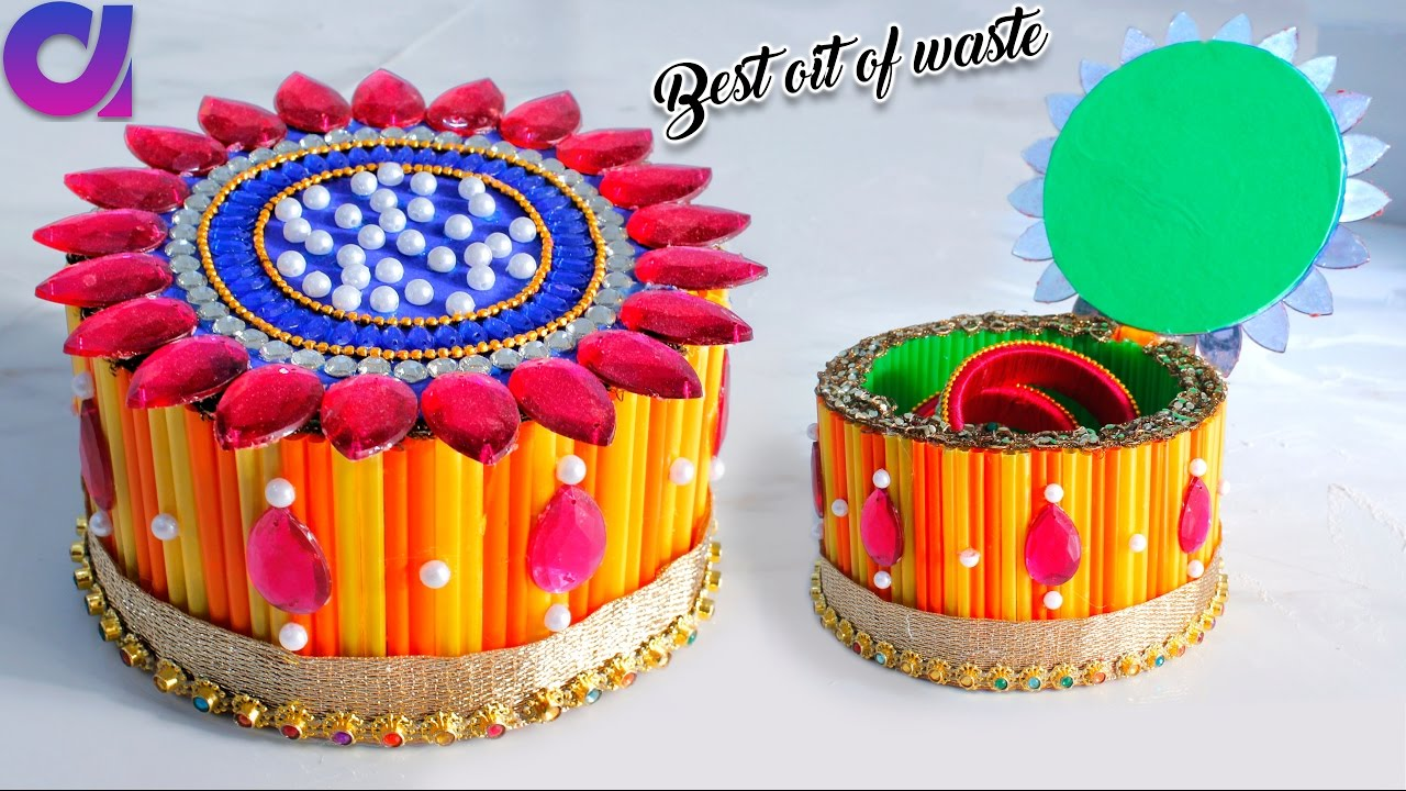 How to make storage box from waste cd dvd best out of for To make best out of waste